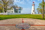 Lighthouse and compass