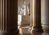 Lincoln between columns