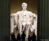 At Abe's feet