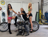 Old Skool, Biker Duckie And The Girls...