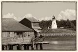 Lubec Maine toward Campobello Island, New Brunswick Canada