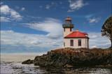 Lime Kiln Lighthouse in the San Juan Islands, WA
