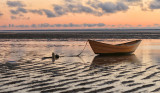 Yellow Boat at low tide (Cape Cod)