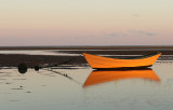 Yellow Boat at low tide #2 (Cape Cod)
