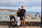 Noel, Marie and I at Playa de las Americas