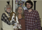 Molly the Beagle and Family at Thanksgiving