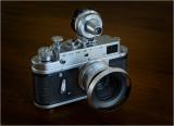 Zorki 4, Jupiter 12 35mm f2.8 and Leitz VIOOH Finder.