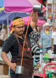Coffee vendor, Ratchaprasong protest camp
