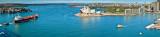 Panoramic view from Sydney Harbour bridge
