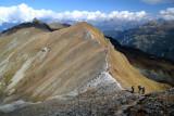Ridge trail from La Brinta to Roc d'Orzival