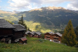View from Grimentz to opposite mountain