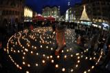 Caritas action on Marktplatz