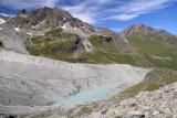 Altitude pond below Moiry Glacier