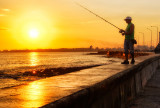 Dawn Fishing on the Malecon