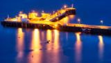 Uig Pier at Midnight