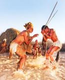 Bushman Traditional Dance - Lion attacks Kudu