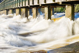 Military Bridge - Shannon River in Flood
