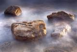 Floating Golden Rocks