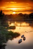 Three Boat Sunset