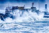 Storm Imogen hits Doolin Pier