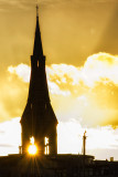 Church Spire Sunset