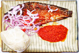 Banku and Tilapia with Peppers Stew