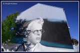 Ireland - Co.Sligo - Sligo - Wall mural of the poet W.B.Yeats.