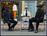 Ireland - Co.Sligo - Sligo - Mime artists in OConnell Street