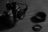 The F6, lens cap & lenshood.