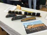 Models by Harry K. Wong; Flatcar loads on display from protoloads.com