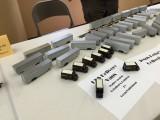 Part of the UPS fleet of Jesus Pena