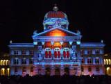 Light show at Bundeshaus