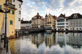 River Reuss and old city Lucerne