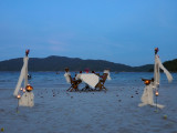 Tonight, there is a marriage on the beach.