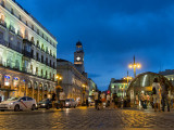 Puerta del Sol, the House of the Post Office and Metro