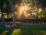Romantic in a parc Madrid