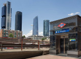 Business part of Madrid in Chamartin