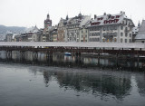 Slightly snow in Lucerne