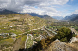 View from the castle Castle of Valeria in Sion