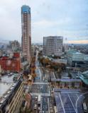 View to the Kanazawa city, after a rainy night