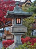 Stone Lantern in Zenkoji Temple