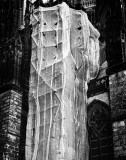 Cologne Cathedral - veiled scaffold