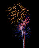 Flowers in the Sky - Pecan Grove Fireworks - July 4, 2013