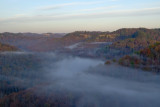 FOGGY MORNING FROM CHIMNEY TOP ROCK