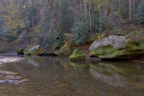 MOSSY ROCKS ON THE RED RIVER