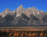 Grand Teton Moonset
