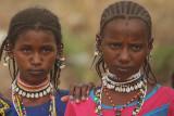 Girls from the Fula nomadic tribe