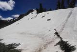Lingering Snow on Garfield Peak
