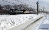Disabled Amtrak Passenger Train / Milford CT / FEB 2014