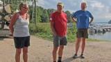 Ledarna Anita, Kjelle och Ulf ( Karin på gruppfotot ) Foto Per